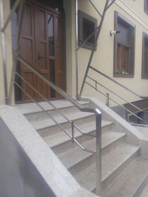 Balustrada Teava Rectangulara Inox - Model 1