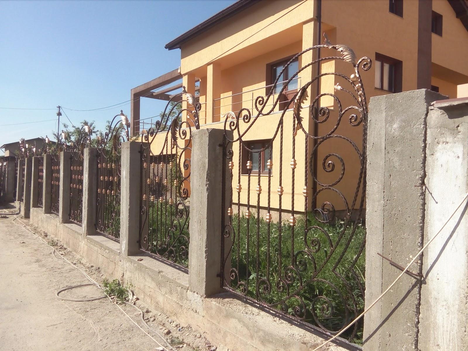 Gard Fier Forjat Edera Bucuresti - Model 58