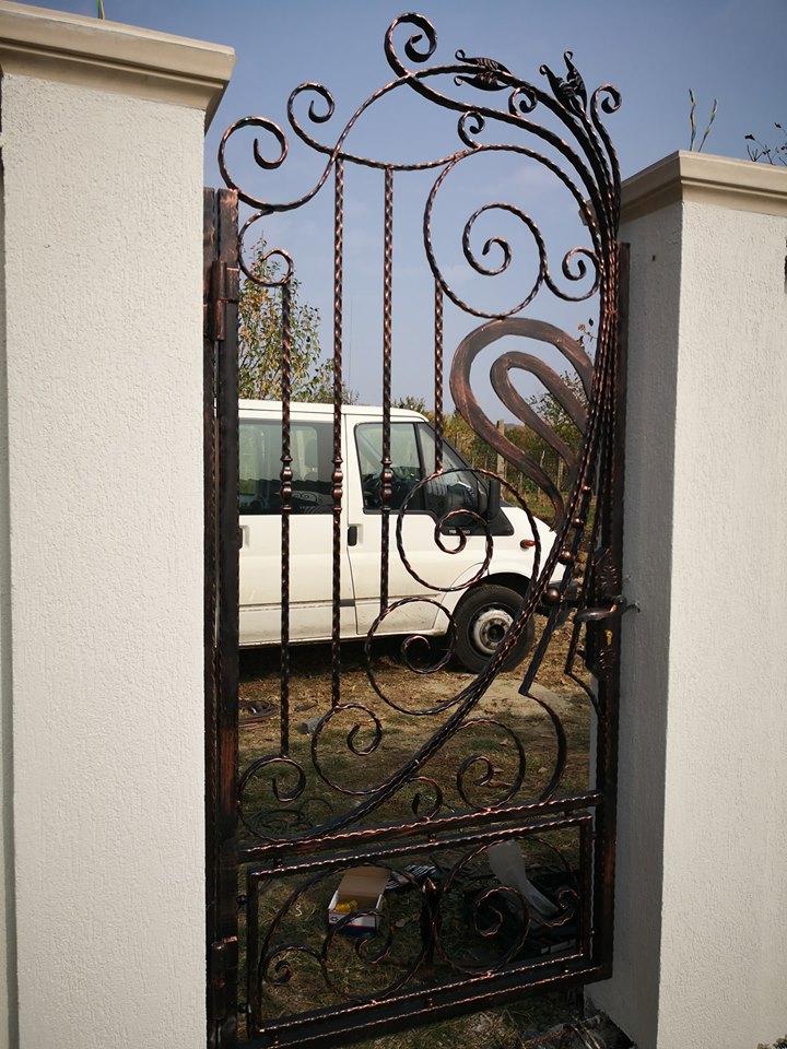 Garduri Fier Forjat - Poarta Pietonala Iedera Salbatica - Model 76